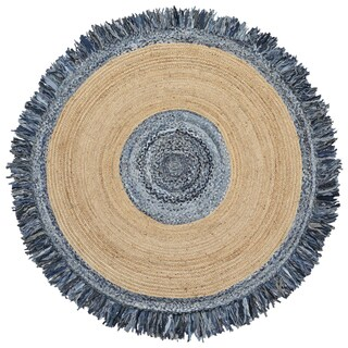 Blue Jeans Denim / Hemp Round Racktrack - 3' x 3'