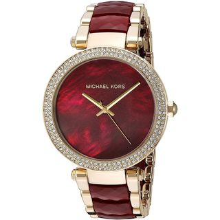 Michael Kors Women's 'Parker' Crystal Two-Tone Stainless Steel Watch