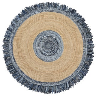 Blue Jeans Denim / Hemp Round Racktrack (6'x6')