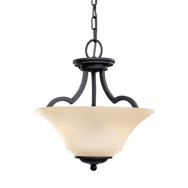 Shop Sea Gull Somerton 2 Light Blacksmith Ceiling Fixture