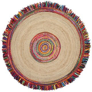 Brilliant Ribbon / Hemp Round Racetrack (3'x3')