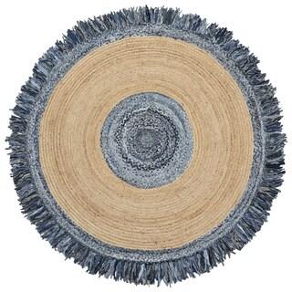 Blue Jeans Denim / Hemp Round Racktrack - 8' x 8'
