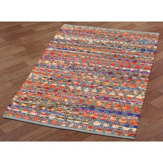 "Complex Grey-Green Hand Woven Rug (30""x50"")"