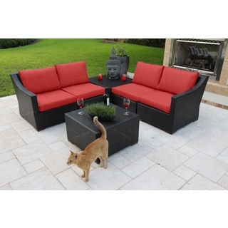 Anne 6 Piece Deep Seating Sectional Set - Olefin Fabric