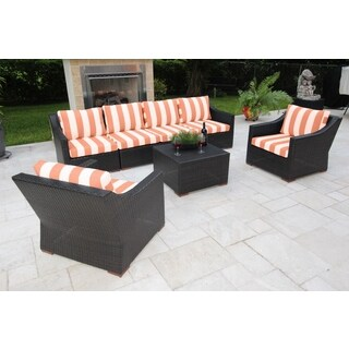 Anne 7 Piece Deep Seating Sofa Set with Sunbrella Fabric