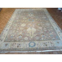 Oriental Fine Turkish Oushak Lavender 100% Wool Hand-knotted Rug - 10'1 x 13'10