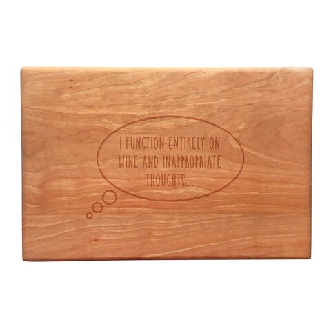 Inappropriate Thoughts Artisan Cherry Cutting Board