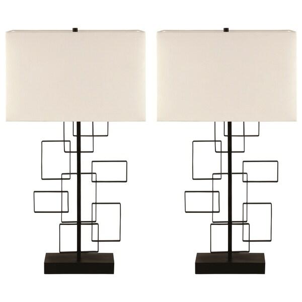 Interlocking Modern Design Table Lamp (Set of 2)