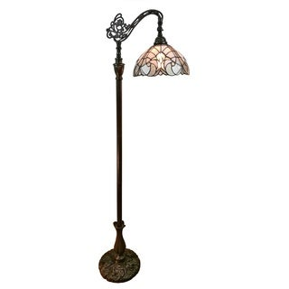 Amora Lighting AM262FL11 62-inch Tiffany-style White Reading Floor Lamp