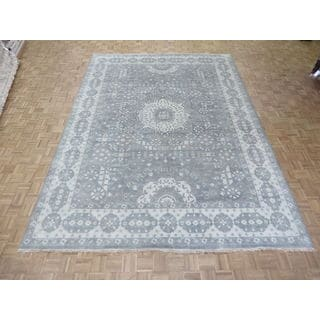 Grey Wool Hand-knotted Oushak Oriental Rug (9'11 x 13'10)