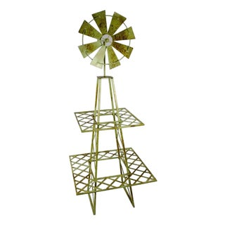Sagebrook Home Green Metal 2-tier Windmill