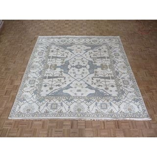Oriental Ivory Wool Oushak Hand-knotted Rug (10' x 10')