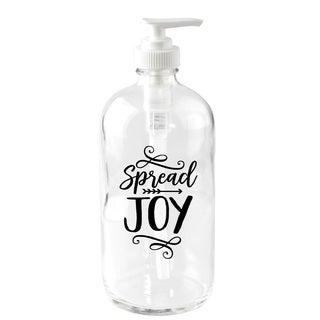 'Spread Joy' 16-ounce Glass Soap Dispenser