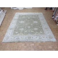 Light Brown Wool Handknotted Oushak Oriental Rug (12'2 x 14'11)