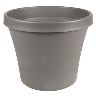 Bloem Terra Pot 14-inch Peppercorn Planter