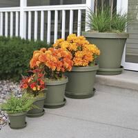 Bloem Terra Pot 24-inch Living Green Planter