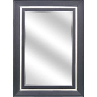 Y-Decor 'Espresso and Champagne' 24 x 36-inch Rectangular Bevel-frame Mirror