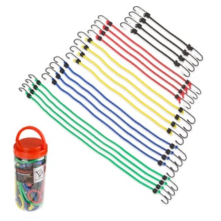 Stalwart 20 Piece Bungee Cord Assortment in Plastic Jar