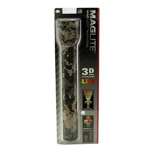 Maglite Mag-LED Blister Pack, 3 Cell LED/Camo