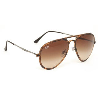 Ray Ban Aviator Light Ray II RB 4211 Unisex Tortoise Frame Brown Gradient Lens Sunglasses