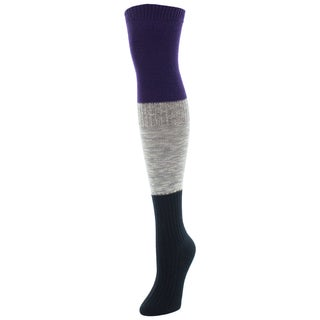 MeMoi Three-tone Over-the-Knee Socks