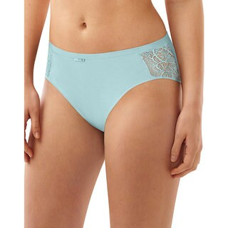 Bali Women's Lace Desire Cotton Hi-cut Brief