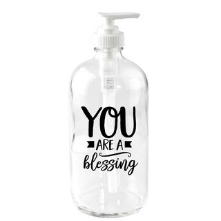 NA 'You Are A Blessing' Glass 16-ounce Soap Dispenser
