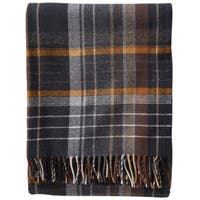 Pendleton Ashton Plaid Coal Lambswool Throw