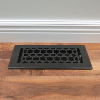 Unikwities Art Nouveau Black Cast Iron Floor Register