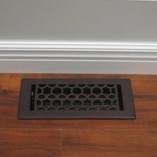 Unikwities 4X10 Solid Brass Floor Register in Oil Rubbed Bronze Finish