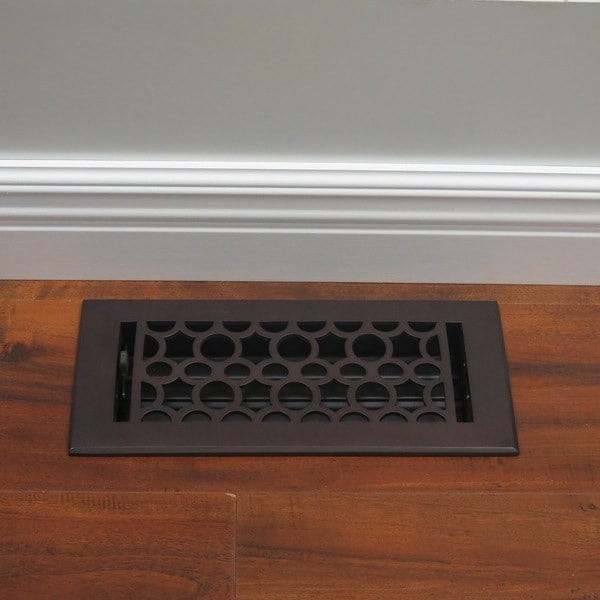 Unikwities 4x10 Solid Br Floor Register In Oil Rubbed Bronze Finish