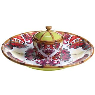 Tracy Porter for Poetic Wanderlust 'Imperial Bengal' 3-piece Chip and Dip Set|https://ak1.ostkcdn.com/images/products/14326680/P20906164.jpg?impolicy=medium