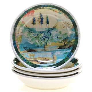 Tracy Porter for Poetic Wanderlust 'Folklore Holiday' 9.5-inch Soup/Pasta Bowl (Pack of 4)