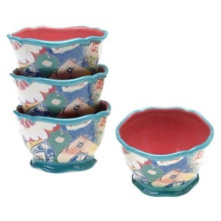 Tracy Porter for Poetic Wanderlust 'Scotch Moss' Earthenware 5.5-inch Ice Cream Bowls (Pack of 4)