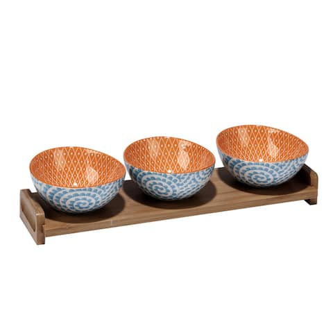 Certified International Chelsea Mix and Match Serving Bowls, Pack of 4