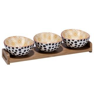 Certified International Daisy Dots 4-piece Serving Set