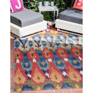 Unique Loom Ikat Outdoor Area Rug - 5' 3 x 8'