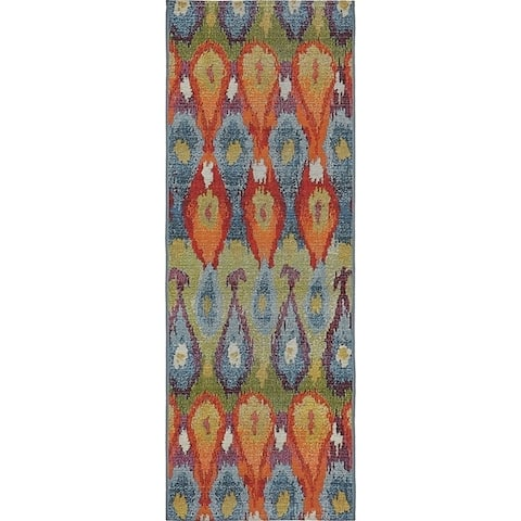 Unique Loom Outdoor Ikat Area Rug
