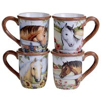 Certified International Heartland Ceramic 18-ounce Mugs (Pack of 4)