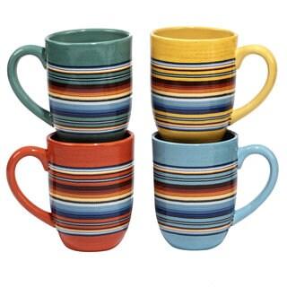 Certified International Pinata 20-oz. Mugs, Set of 4 in Assorted Designs