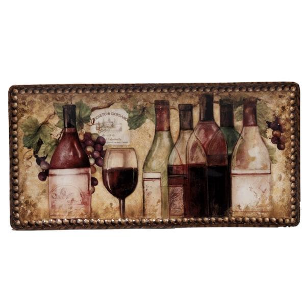 Certified International Gilded Wine 14-inch x 7-inch Bread Tray