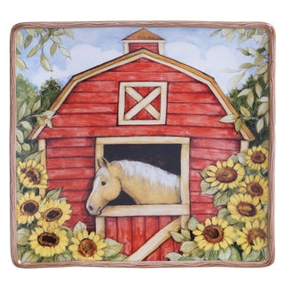 Certified International 12.5-inch 'Heartland' Square Platter