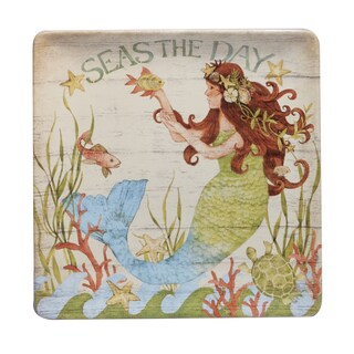 Certified International 12.5-inch 'Sea Beauty' Square Platter