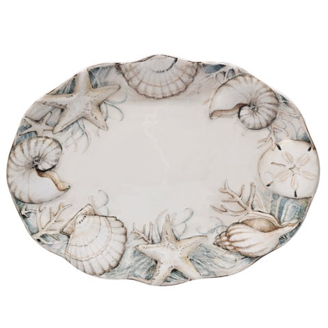 Certified International 16.25-inch 'Coastal View' Oval Platter