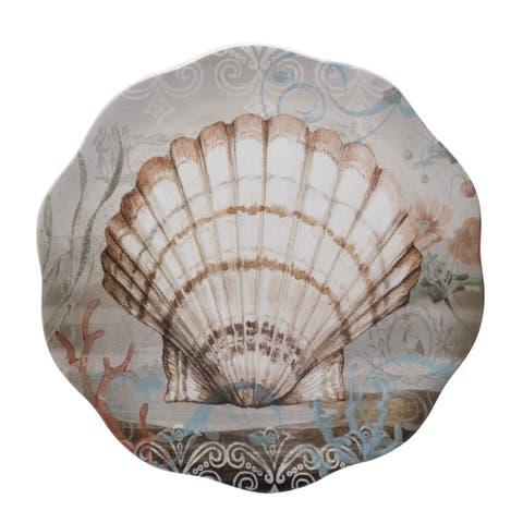 Certified International 13.25-inch 'Coastal View' Round Platter