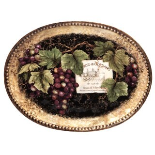 Certified International 16-inch 'Gilded Wine' Oval Platter