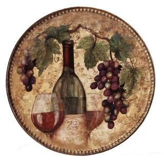 Certified International 15.25-inch 'Gilded Wine' Round Platter
