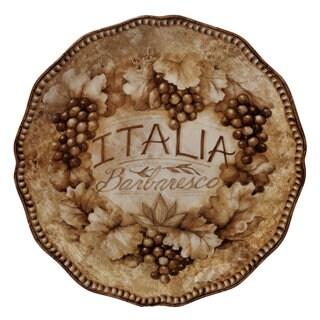 Certified International 13-inch 'Gilded Wine' Round Platter