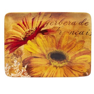 Certified International 16-inch 'Gerber Daisy' Rectangular Platter
