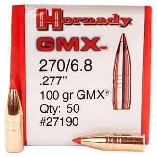 """Hornady 270 Caliber Bullets .277"""" 110 Gr GMX (Per 50)"""